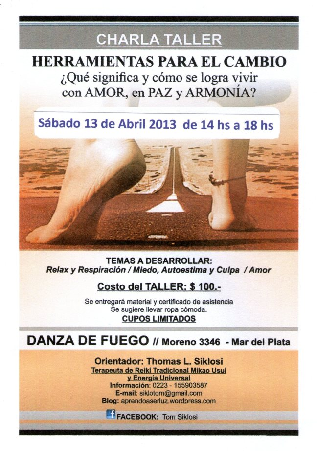 Charla-Taller Tom - 13 Abril 2013 - Para FB