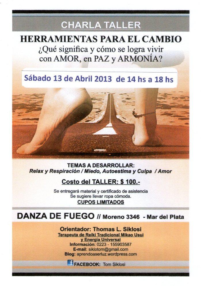 Charla-Taller Tom - 13 Abril 2013 - Para FB