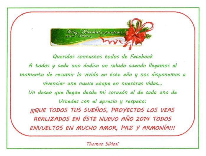 Saludo navideño FACEBOOK