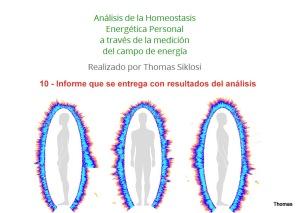 10 - Presentación de informe detallado con resultados del análisis GDV Bio Well